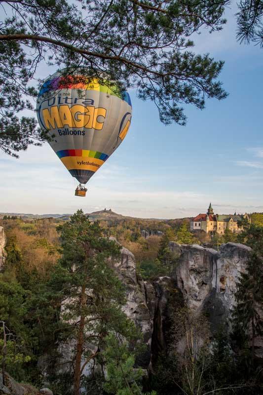 let balonem cesky raj