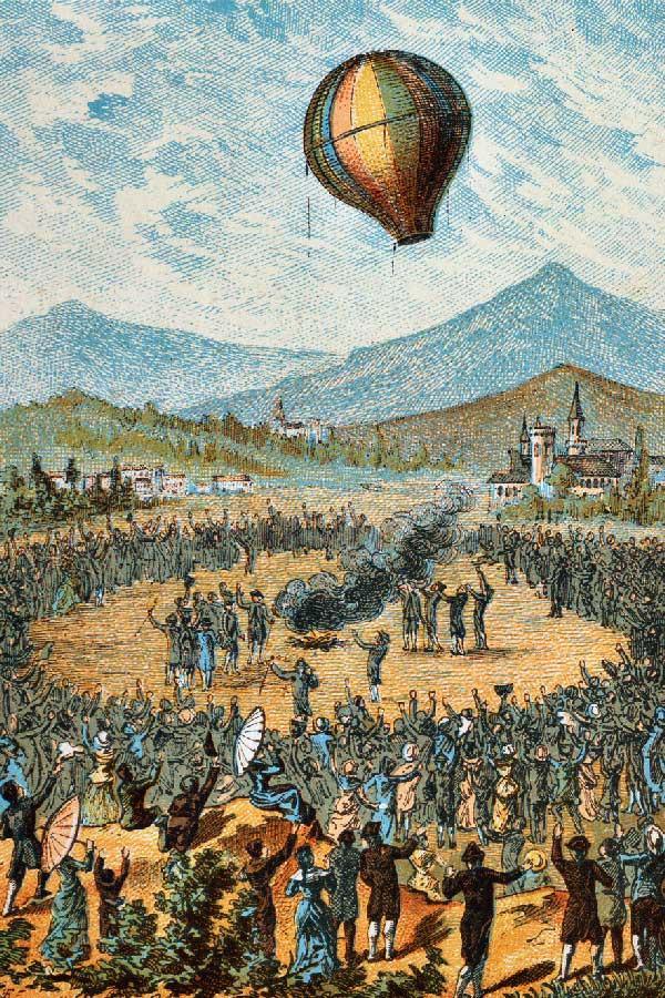 bratri montgolfierove prvni let